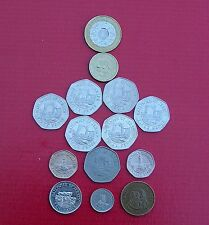 Selection of Various Jersey Regional Coins (1p, 2p, 5p, 10p, 20p, 50p, £1, £2)
