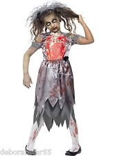 Zombie Graveyard Corpse Bride Girls Halloween Fancy Dress Cosutme 7-teen years