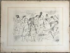 """Jules Pascin (French 1885-1930) """"Group of Ladies"""" lithograph 1920s"""