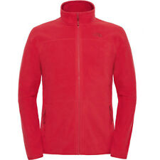 North Face 100 Glacier Full Zip Mens Jacket Fleece - Tnf Red All Sizes
