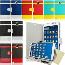 Color PU Leather Magnetic Flip Stand Case Film For Samsung Galaxy S4 S5 Note 3