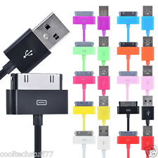 FOR APPLE IPHONE 4 4S 3G 3GS IPOD IPAD TOUCH NANO DATA SYNC CABLE VARIOUS COLOR
