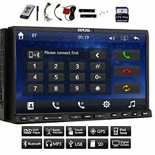Double 2 AM FM din 7 Video inch Car DVD Bluetooth CD Video Player HD Capacitive