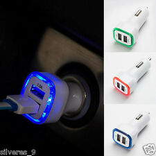 2.1A LED USB Dual 2 puertos Adaptador Enchufe Cargador de coche Para Iphone
