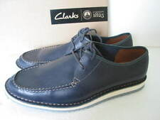 CLARKS MENS MAXIM EDGE NAVY LEATHER LACE UP SHOES SIZE 8,9,10,11 G