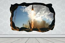 Cave Effect Crack Rocket Launch Space Wall Sticker Poster Vinyl GA33-443