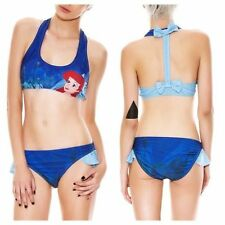 Disney Little Mermaid Ariel Blue Bow Bikini Set Size XL Last One