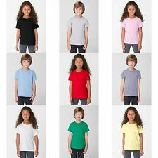 American Apparel Childrens/Kids Girls Plain Short Sleeve T-Shirt/Tee