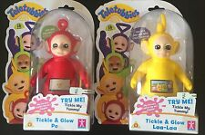 Teletubbies Laa Laa or Po Tickle and Glow Giggles Light Up Screen Toy Gift BNIB
