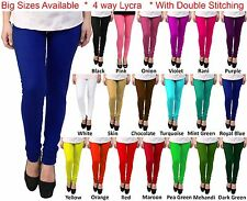 Akaira Hosiery Lycra 4x4 Churidar Legging Big Sizes Double Stitching 25+ Colours