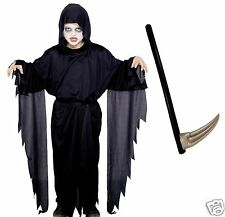Smiffy's Screamer Ghost Halloween Fancy Dress Costume Scythe Age 4-6 7-9 10-12