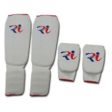 Elasticated shin instep Karate Mitts Martial Arts Muay Thai Kick Boxing Guard