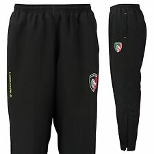 KooGa Mens Gents Rugby Leicester Tigers Microfibre Track Pants - Black/Green