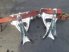 Campagnolo Chorus Aero Pedals with Toeclips and straps. 705/000 Vintage 1988 VGC