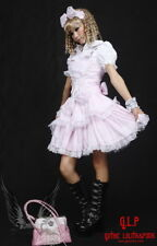 Cosplay Gothic Lolita Kleid 3 Teile Bluse Haarreife Rosa Sexy Lace