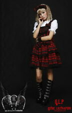 Cosplay Gothic Lolita Kleid 3 Teile Bluse Haarreife Rot Sexy Lace