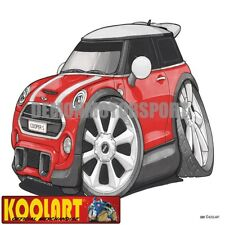 Koolart Cartoon BMW Mini Cooper S Red and White - Mens Gifts (3281)