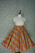 """VINTAGE 80s 50'S SWING SKIRT, CIRCLE SKIRT, PATCHWORK, PIN UP, 29"""""""