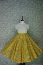 """VINTAGE 80s 50'S SWING SKIRT, CIRCLE SKIRT, FLORAL, PIN UP, 30"""""""