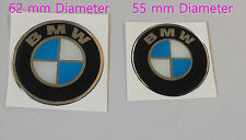 BMW REPLICA Roundal stickers/decals chrome/blue-HIGH GLOSS DOMED GEL FINISH