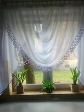 Ready made Net curtains - Half Moon / Voiles / Voile / Firany / Firanki / new