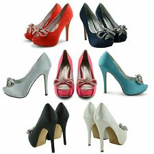 NEW LADIES HIGH HEEL PLATFORM PEEP TOE EVENING SHOES WOMENS STILETTO SANDALS