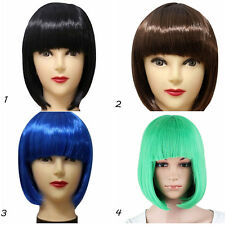 Sexy Womens Ladies Short Straight Bangs BOBO Hair Party Cosplay Full Wig