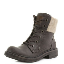 Womens Blowfish Fader Brown Faux Shearling Military Ankle Boots Size