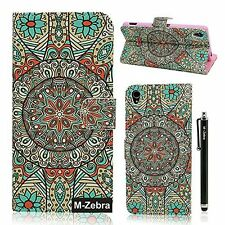 Sony Xperia Z3 Case,M-Zebra Printed Series Light Color Design PU Leather Stand W