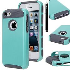 iPhone 5C, E LV iPhone 5C - Two Tone Dual Layer Armor Protective Defender Case C