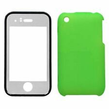 Hard Plastic Snap on Cover Fits Apple iPhone 3G 3GS Solid Green With Lens AT&T (