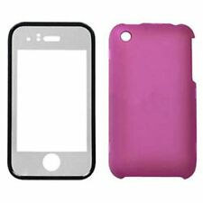 Hard Plastic Snap on Cover Fits Apple iPhone 3G 3GS Solid Hot Pink With Lens AT&