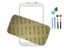 White Samsung Galaxy S4 SIV i9500 GT-I9505 Front outer glass panel screen lens