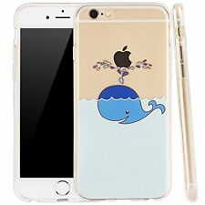 IPhone 6S Case,iphone 6 case, LUOLNH Funny fashion new creative design Whale Wat