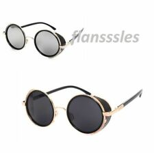 Mens -Ladie Steampunk Sunglasses 50s Round Glasses Cyber Goggles Vintage Style.