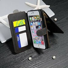 iPhone 6 Wallet Case, iNNEXT Handmade Genuine Cowhide Leather Wallet Cover Case,