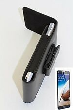 BLACK - Magnetic Closing Flap Smooth PU Leather Holster Pouch Case Vertical Pouc