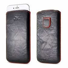 iPhone 6 6S Pouch, BELK Soft Leather Case Full Body Leather Sleeve with Pull Tab