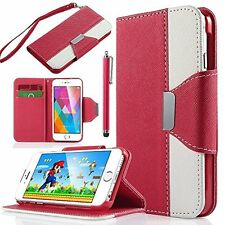 Leather Flip Cover Credit Card Wallet Case Stand Pouch Fits Apple iPhone 6/6S 4.
