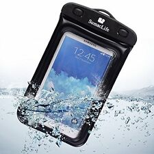 Waterproof Pouch Case with Built in Headphone Adapter , Waterproof Earphones for