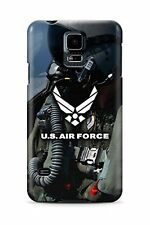 United States Air Force Logo over Fighter Pilot Background - Slim Phone Case - S