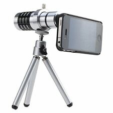 BW 12x Telephoto Manual Focus Telescope Phone Camera Lens for Apple Iphone 4 4s
