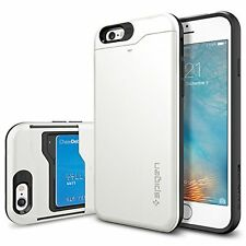 iPhone 6 Case, Spigen [Slim Armor CS] Card Holder [Shimmery White] With Card Hol