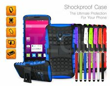 For Apple Models Shockproof Tough Strong Case w/ Stand & Stylus Pen