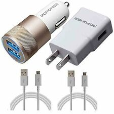Car charger 5v 3.1 Amp And Wall charger 5v 2.0 Amp And 6ft USB Cable + 3ft USB C