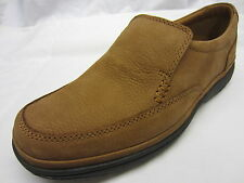 Clarks 'Swift Step' Mens Tan Nubuck Scarpe Slip-On Di Pelle