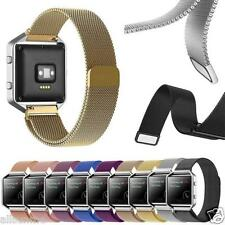 For Fitbit Blaze New Milanese Magnetic Loop Stainless Steel Bands Strap Bracelet
