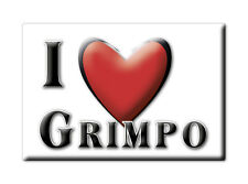 SOUVENIR UK - ENGLAND FRIDGE MAGNET UNITED KINGDOM I LOVE GRIMPO (SHROPSHIRE)