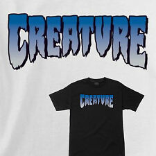 CREATURE - Skateboard Tee Shirt - Classic Logo - White or Black
