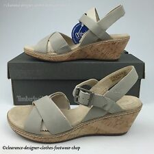 81188bce36f TIMBERLAND WHITTIER SANDALS WOMENS ANKLE STRAP HEEL BEIGE LEATHER SHOES RRP  £85